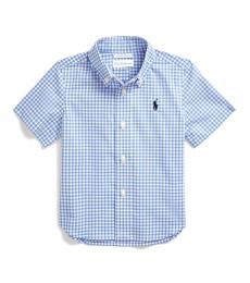 Ralph Lauren Baby Boys Blue Multi Gingham Shirt