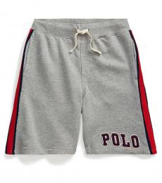 Ralph Lauren Boys Andover Heather French Terry Shorts