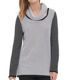 BlackWhite Mixed Stitch Sweater