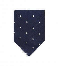 Ted Baker Navy Textured Dot Tie