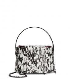 Betsey Johnson White Vintage Vibes Box Small Shoulder Bag