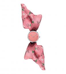Furla Pink Silk Wrap Watch