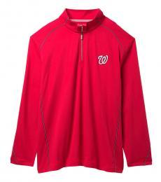 Tommy Bahama Red-Home Run Half-Zip Sweatshirt