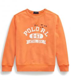 Ralph Lauren Boys Classic Peach French Terry Sweatshirt