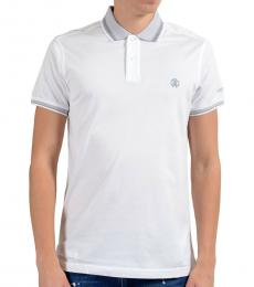 Roberto Cavalli White Short Sleeve Polo