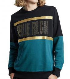 True Religion Black Alligator Crewneck Sweatshirt