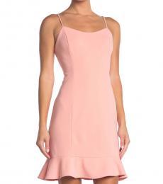 Betsey Johnson Peach Scuba Crepe Mini Dress