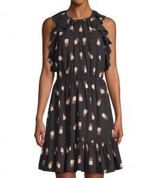 Kate Spade Black Pineapple-Print Sheath Dress