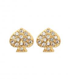 Gold Spade Mini Stud Earrings
