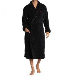Tommy Bahama Black Long Sleeve Robe