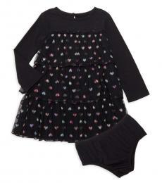 BCBGirls Baby Girls Black Tiered Dress