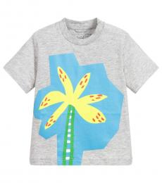 Stella McCartney Baby Boys Grey Palm Print T-Shirt
