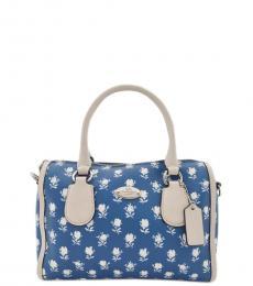 Blue Bennett Floral Small Satchel