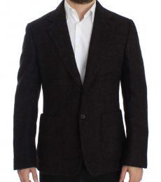 Dolce & Gabbana Maroon Two Button Blazer
