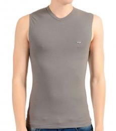 Grey V-Neck Tank Top
