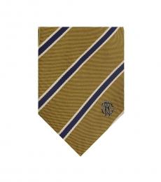 Mustard Regimental Stripe Tie