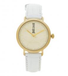 Just Cavalli White Ritzy Dapper Watch