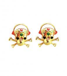 Betsey Johnson Gold Headphones Earrings