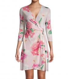Multi color Floral Mini Wrap Dress