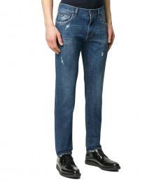 Dark Blue Stretch Slim-Fit Jeans