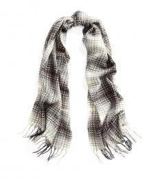Grey Heather Plaid Brushed Scarf