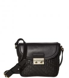Black Lock Quilted Small Crossbody