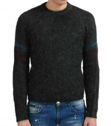 Dark Grey Wool Crewneck Sweater