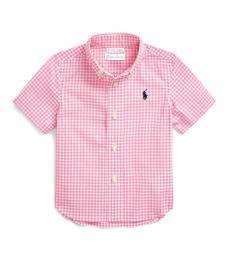 Ralph Lauren Baby Boys Pink Multi Gingham Shirt