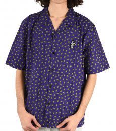 Dark Purple Allover Print Friday Shirt