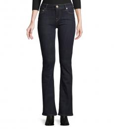 Black Mid-Rise Bootcut Jeans