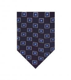 Navy Framed Squares Tie