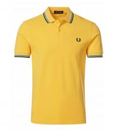 Fred Perry Mustard Logo Patch Polo