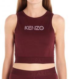 Kenzo Bordeaux Logo Crop Top