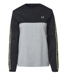 Fred Perry Light Grey Crew Neck Logo Sweatshirt