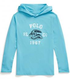 Ralph Lauren Boys Neptune Stretch Beach Hooded T-Shirt