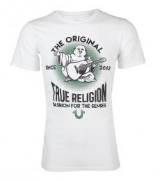 True Religion White Real Deal Buddha T-Shirt