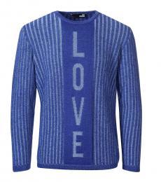 Love Moschino Blue Logo Pullover Sweater