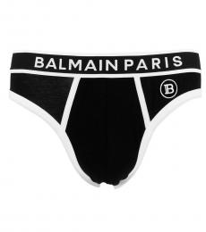 Balmain Black Logo Slip Brief