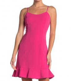 Betsey Johnson Fuchsia Scuba Crepe Mini Dress