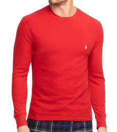 Ralph Lauren Red Waffle-Knit Thermal