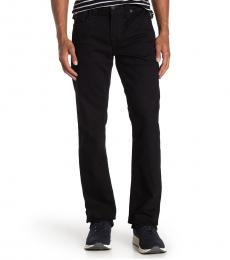 True Religion Black Ricky Relaxed Straight Leg Jeanss
