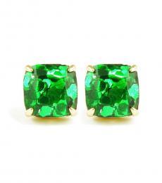Kate Spade Green Square Stud Earrings