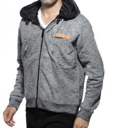 Grey Logo Hoodie Jacket