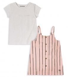 Calvin Klein 2 Piece T-Shirt/Top Set (Little Girls)