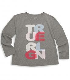True Religion Little Girls Grey Graphic T-Shirt