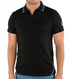 Just Cavalli Black Contrast Collar Logo Polo