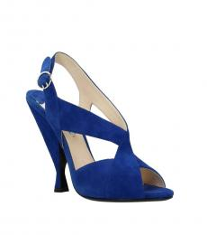 Prada Blue Slingback Heels
