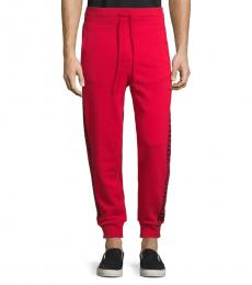 Ruby Red Logo Cotton Jogger
