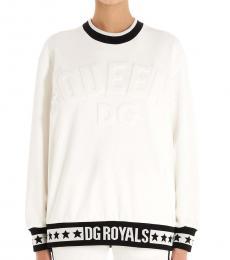 White Embossed Logo Sweatshirt