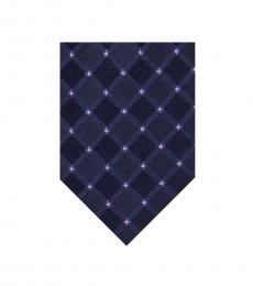 Michael Kors Purple Square Pindot Tie